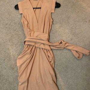 ASOS Blush Tulip Wrap Dress
